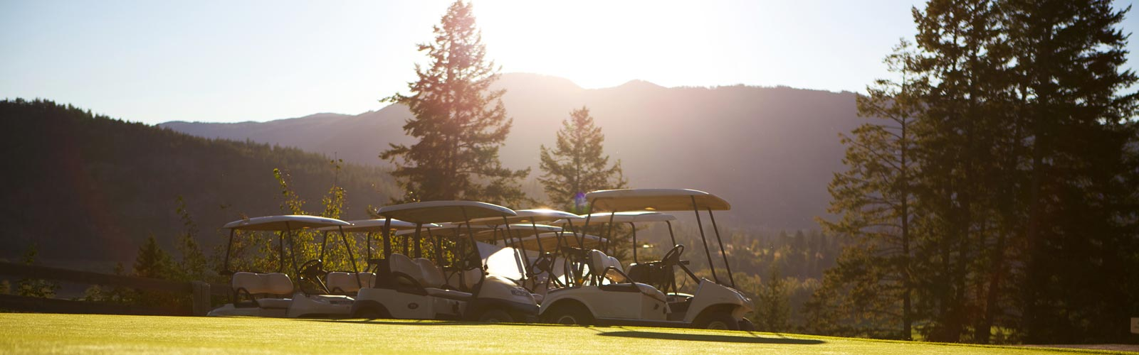 Chinook Cove Golf Course carts