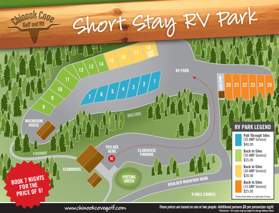 Chinook Cove RV Park Prices | Barriere BC